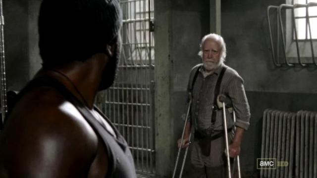 Hershel's face of unease